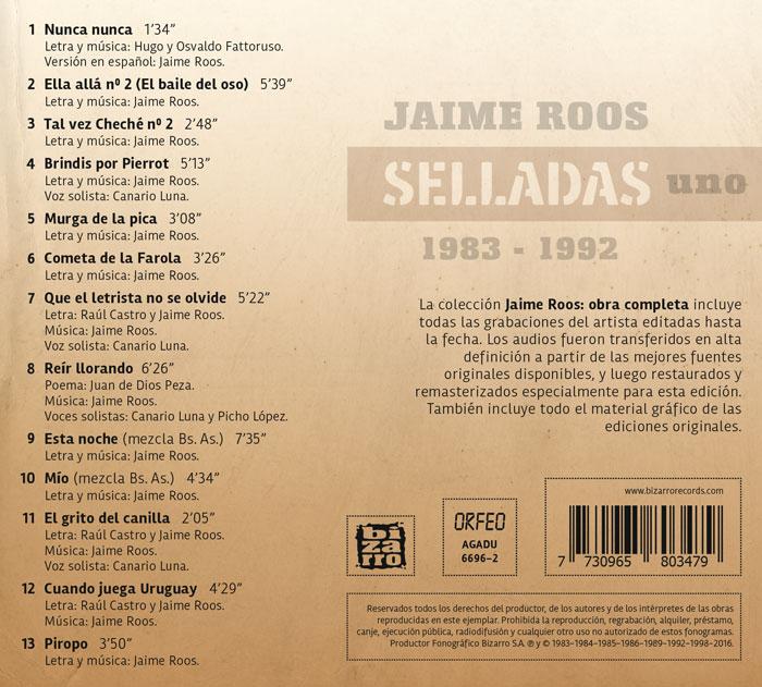 Jaime Roos | Obra Completa – Selladas uno (1983—1992)