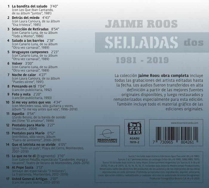 Jaime Roos | Obra Completa – Selladas dos (1981—2019)