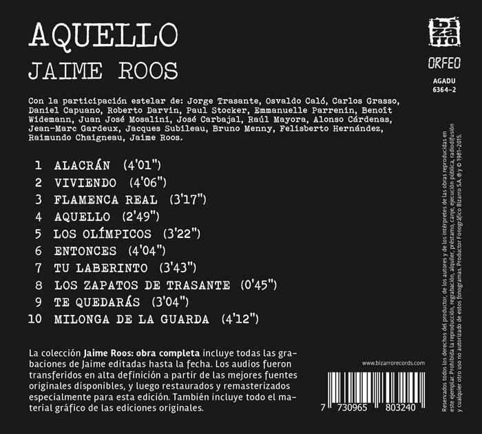 Jaime Roos | Obra Completa – Aquello
